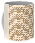 White Triangles On Burlap Coffee Mug