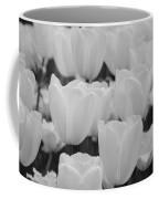 White Tulips B/w Coffee Mug