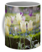 White Tulips In Parisian Garden Coffee Mug