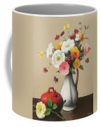 White Vase And Red Box Coffee Mug by Felix Elie Tobeen