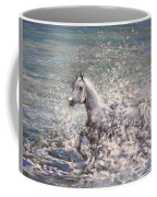 White Wild Horse Coffee Mug