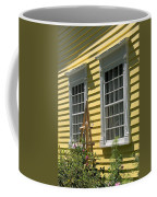 White Windows Yellow Wall Coffee Mug