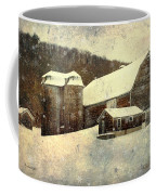 White Winter Barn Coffee Mug