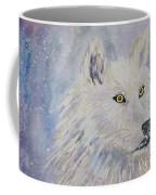 White Wolf Of The North Winds Coffee Mug