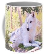 White Wolf Taking It Easy Coffee Mug