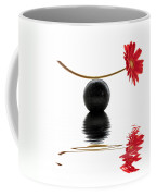 White Zen Gerbera Coffee Mug