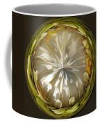 White Zinnia Button Coffee Mug