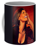 Whitney Houston Coffee Mug by Paul Meijering