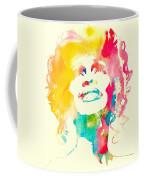 Whitney Houston Watercolor Canvas Coffee Mug