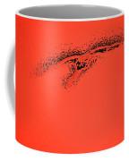 Whooper Swan Red Abstract Coffee Mug