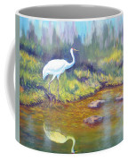 Whooping Crane - Searching For Frogs Coffee Mug