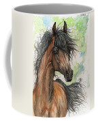 Wieza Wiatrow Polish Arabian Mare Watercolor Painting  Coffee Mug