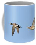 Wigeon Pair Flying Coffee Mug