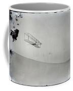 The Wright Brothers Wilbur Gliding Down Steep Slope Of Big Kill Devil Hill Coffee Mug
