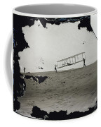 The Wright Brothers Wilbur In Motion At Left Holding One End Of Glider Coffee Mug