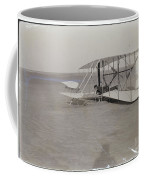 The Wright Brothers Wilbur In Prone Position In Damaged Machine Coffee Mug