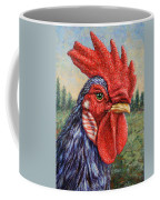 Wild Blue Rooster Coffee Mug