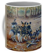 Wild Dogs After The Chase Coffee Mug