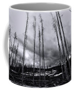 Wild Fire Aftermath In Black And White Coffee Mug