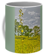 Wild Flower Field Abstract Coffee Mug