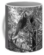 Wild Hawaiian Parrot Black And White Coffee Mug