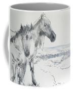 Wild Horses Drawing Coffee Mug