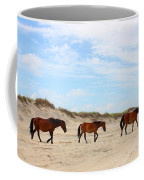 Wild Horses Of Corolla - Outer Banks Obx Coffee Mug