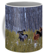 Wild Horses Of The Ghost Forest Coffee Mug