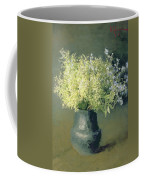 Wild Lilacs And Forget Me Nots Coffee Mug by Isaak Ilyich Levitan