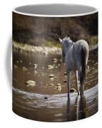 Wild Mustang On The River  Coffee Mug