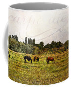 Wild Mustangs Carpe Diem Coffee Mug