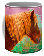 Wild Pony Abstract Coffee Mug