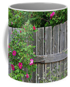 Wild Roses And Weathered Fence Coffee Mug