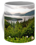 Wild Roses At Photographer's Point Overlooking Bonne Bay In Gros Morne Np-nl Coffee Mug