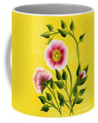 Wild Roses On Yellow Coffee Mug