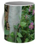 Wild Roses With Birch Tree Coffee Mug