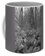 Wild Skunk Cabbage Bw Coffee Mug
