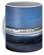 Wild Surf At Seaside Beach Coffee Mug