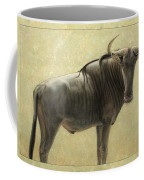 Wildebeest Coffee Mug by James W Johnson