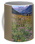 Wildflowers And Mountains  Coffee Mug