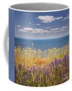 Wildflowers And Ocean Coffee Mug