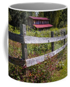 Wildflowers At The Fence Coffee Mug