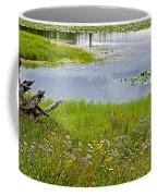 Wildflowers By Heron Pond In Grand Teton National Park-wyoming Coffee Mug