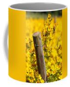 Wildflowers On Fence Post Coffee Mug