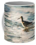 Willet Wading Through The Ocean Foam Coffee Mug