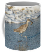 Willet With Sand Crab Coffee Mug