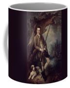 William Poyntz Of Midgham And His Dog Amber Oil On Canvas Coffee Mug