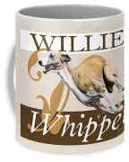 Willie The Whippet Coffee Mug by Liane Weyers