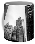 Willis Tower In The Clouds - Black And White Coffee Mug