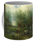 Willows With A Man Fishing Coffee Mug